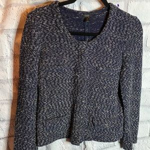 J Crew navy and white tweed jacket. Size S